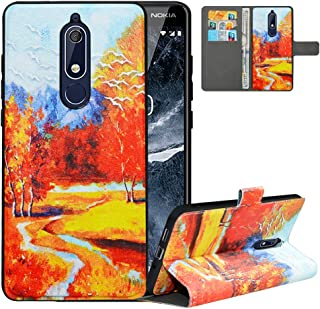 Case for Nokia 5.1 2018,Flip Case for Nokia 5.1 2018,Detachable Wallet RFID Blocking Cover for Nokia 5.1 2018,PU Leather W...