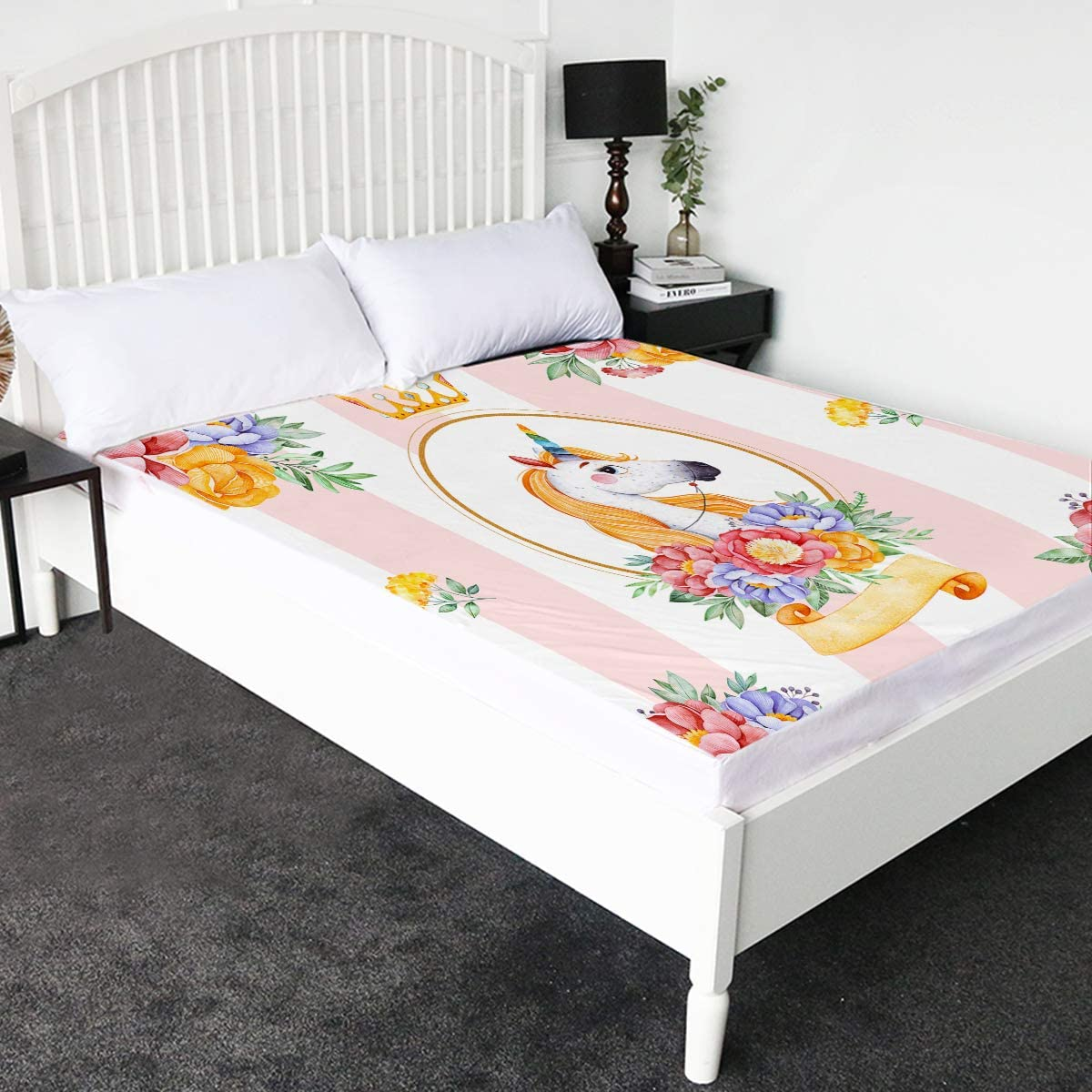 Sleepwish Unicorn California King Fort Worth Mall Size Sheet Quantity limited Fitted for Girls Pa