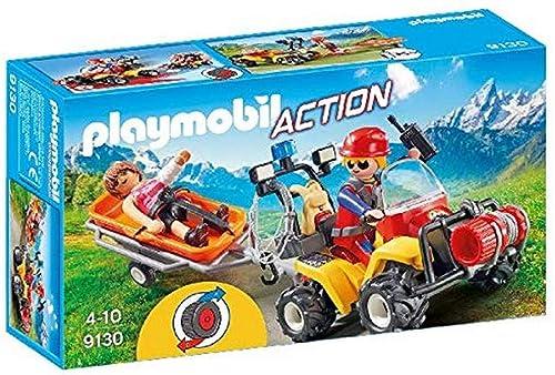 Playmobil- Secouriste des Montagnes avec Quad, 9130