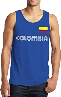 SpiritForged Apparel Colombia Soccer Jersey Men's Tank Top