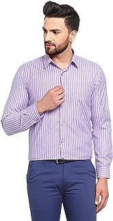 English Navy Men's Slim Fit Formal Shirt (2038Blue-Purple_Blue & Purple_38)