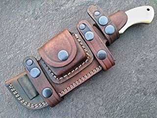 Ottoza Handmade Damascus Tracker Knife with Bone Handle - Survival Knife - Camping Knife - Damascus Steel Knife - Damascus...