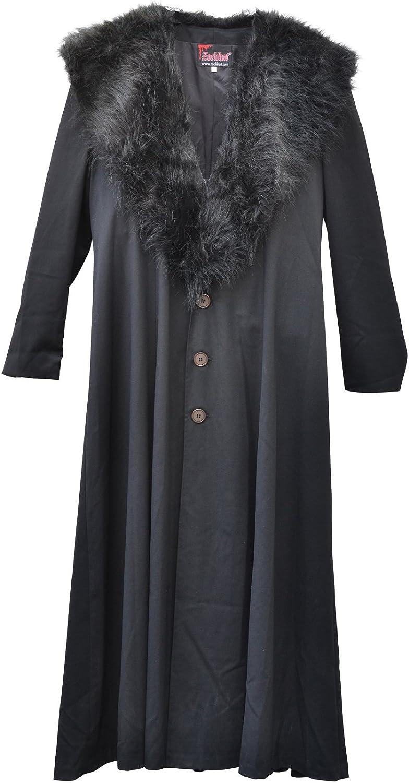 increíbles descuentos Zoelibat 30003024.008l Mujer Gótico Steampunk abrigo abrigo abrigo de pelo sintético con cuello, wadenlang, tamaño L, Color negro  ventas de salida