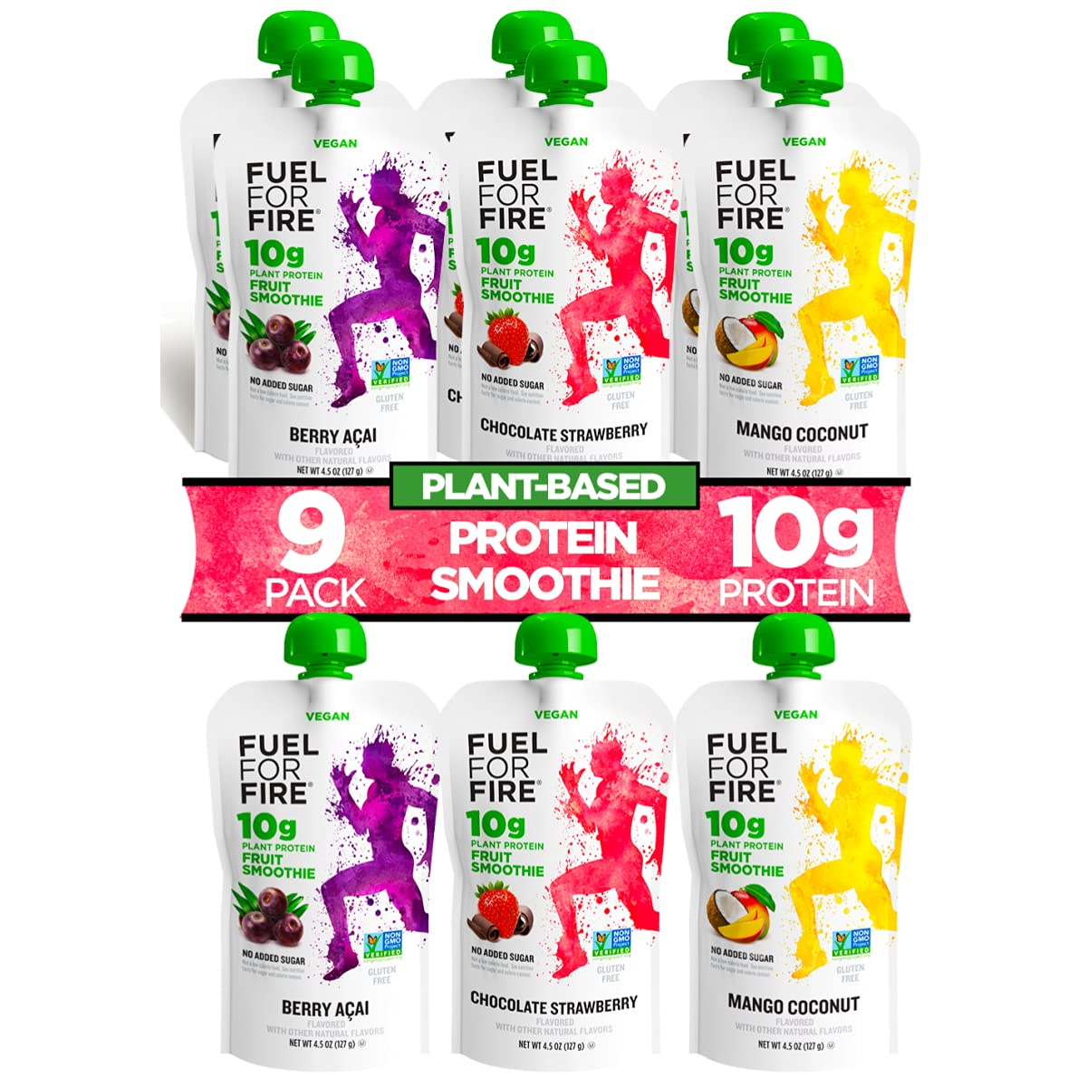 Fuel For Fire VEGAN - Fruit Variety Vegan Protein Recommended 9 25% OFF Smoothies
