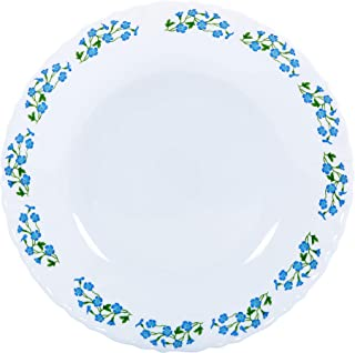Delcasa 7.5 Opal Ware Dinner Plate Meal Plates Pasta Plates Plate with Playful Classic decoration Freezer & Dishwasher Saf...