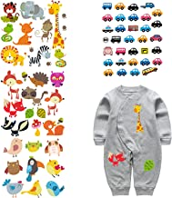 ARTEM 4 Set Patches for Kids Clothes Washable Heat Transfer Iron Stickers Appliques Lovely Cartoon Animal Car Patch DIY Baby T-Shirt,Dress