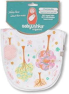 Babyushka Pink Tree Organic Bib, 2 Count