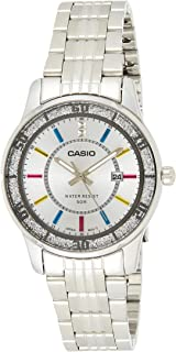 Casio Women'S Silver Dial Stainless Steel Band Watch - Ltp-1358D-7Avdf