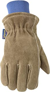 Men's Lined Winter Leather Work Gloves, Large (Wells Lamont 1196L)