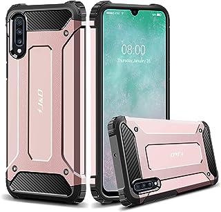 comprar comparacion J&D Compatible para Galaxy A70 Funda, Armadura Delgada Doble Capa Protección Pesada Híbrida Resistente Funda Protect...