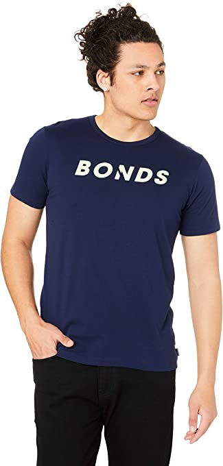 Bonds Men's Logo Crew Tee, Black
