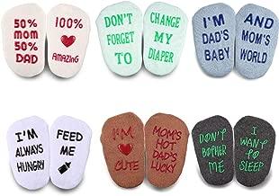 Blulu Baby Socks Gift Set 6 Pair Baby Shower Gifts Anti-slip Cool Baby Gifts Unisex Boy Girl Newborn Present 3-18 Month
