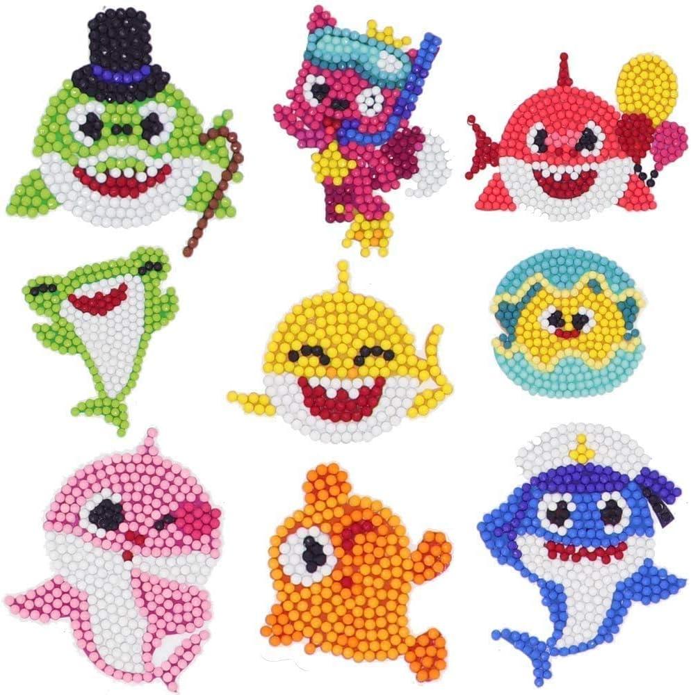 UONOCEH 5D Popular products Shark Diamond Painting Seasonal Wrap Introduction DIY Kits Kids Dot for