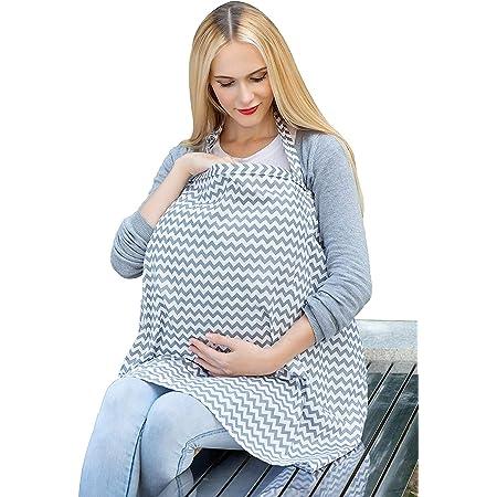 Libershine Couverture d'Allaitement Écharpe, 100% coton Couverture d'allaitement, Echarpe Allaitement Bebe de Maternité Protection totale de l'allaitement maternel à 360°