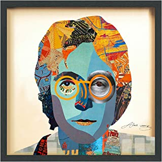 Empire Art Direct John Lennon Dimensional Collage Handmade by Alex Zeng Framed Graphic Famous Person Wall Art, 25