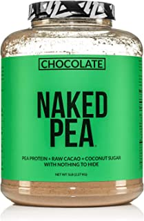 Chocolate Naked Pea Protein - Pea Protein Isolate from North American Farms - 5lb Bulk, Plant Based, Vegetarian & Vegan Pr...