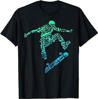 Skater Skateboarding Helmet Gear Skateboard - Skateboarder T-Shirt