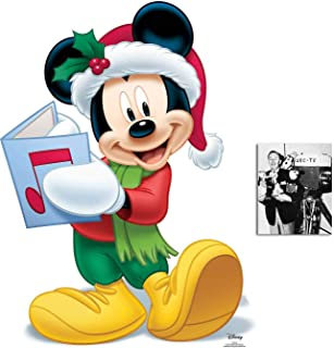 Mickey Mouse Christmas Carol Singer Official Disney Lifesize Cardboard Cutout Fan Pack, 93cm x 68cm Includes 8x10 Star Photo