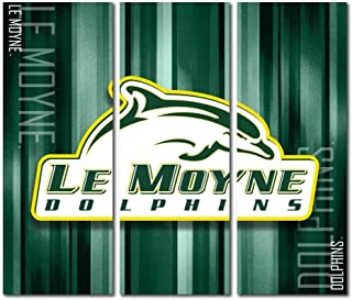 Victory Tailgate Le Moyne College Dolphins Triptych Canvas Wall Art Rush (48x54 inches)