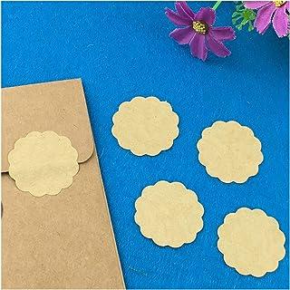 Wonderful 2000PCS Kraft Paper Sticker Labels Blank Sealing Label Stickers Self- Adhesive Packing Labels DIY Baking sticker...