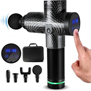 Massage Gun Deep Tissue for Athletes, 20 Speed Percussion Muscle Massager for Pain Relief, Handheld Electric Body Massager for Back Neck, Cordless Vibration Drill Massager with Quiet Brushless Motor
