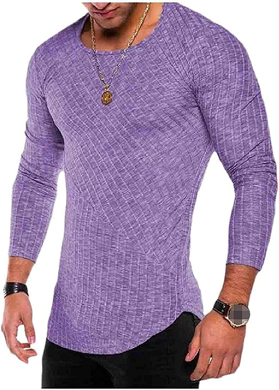 Men Trim-Fit Super Outlet sale feature special price O-Neck Pure Colour Shirts T Blouse Tops Wild