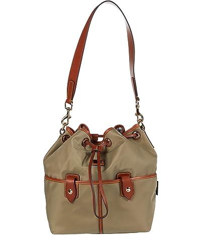 Dooney & Bourke Wayfarer Large Drawstring (Taupe) Handbags