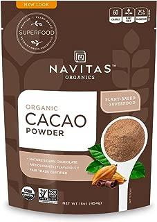 Navitas Organics Cacao Powder, 16 oz. Bags — Organic, Non-GMO, Fair Trade, Gluten-Free