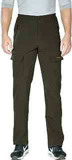 Nonwe Men's Outdoor Winter Water Resistant Fleece Lined Cargo Snow Hiking Pants