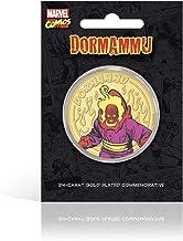 IMPACTO COLECCIONABLES Marvel Comics Colección Villanos - Dormammu, Moneda / Medalla Conmemorativa acuñada con baño en Oro 24 Quilates y Coloreada a 4 Colores - 44mm
