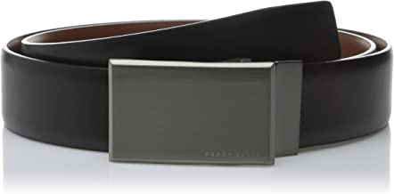 Perry Ellis Men's Portfolio Reversible Patterned Plaque Belt