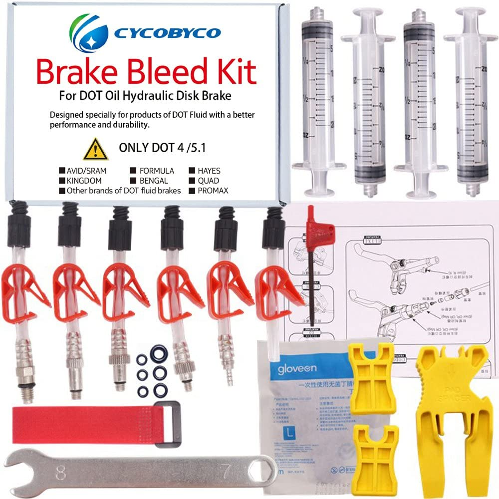 Today's only CYCOBYCO Bicycle Brake DOT Topics on TV Oil Bleed AVID Kit Formula Sram H for