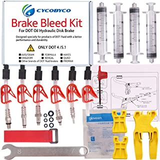 CYCOBYCO Bicycle Brake DOT Oil Bleed Kit for AVID Sram Formula Hayes Bngal Hope Quad Kingdom Promax Hydraulic Disc Tools