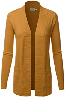 LALABEE Women's Open Front Pockets Knit Long Sleeve Sweater Cardigan(S~3XL)