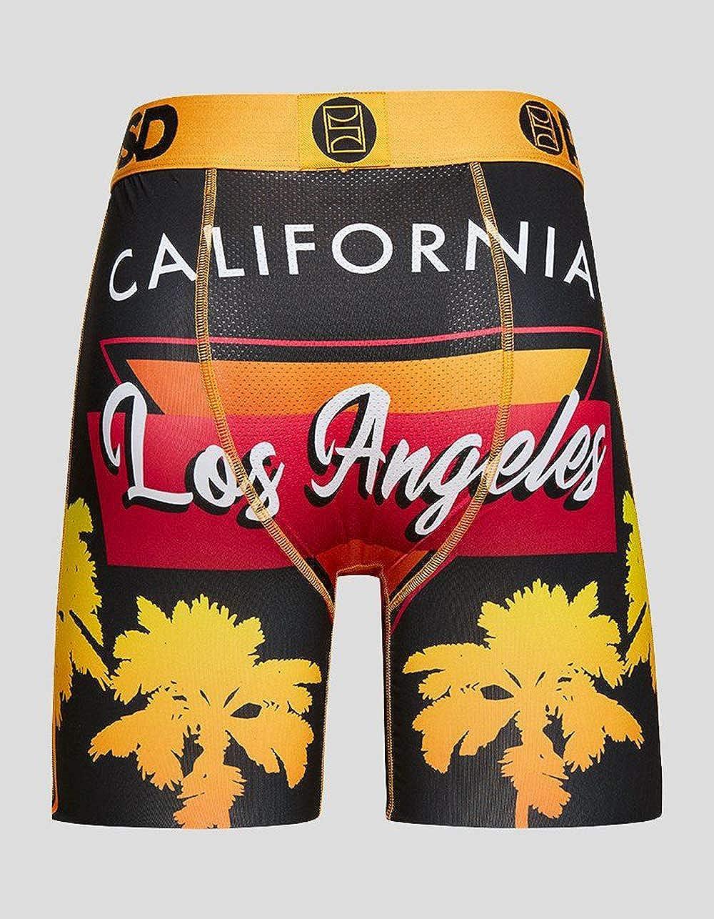 Men's Brief Underwear Bottom (Orange/Los Angeles Palm