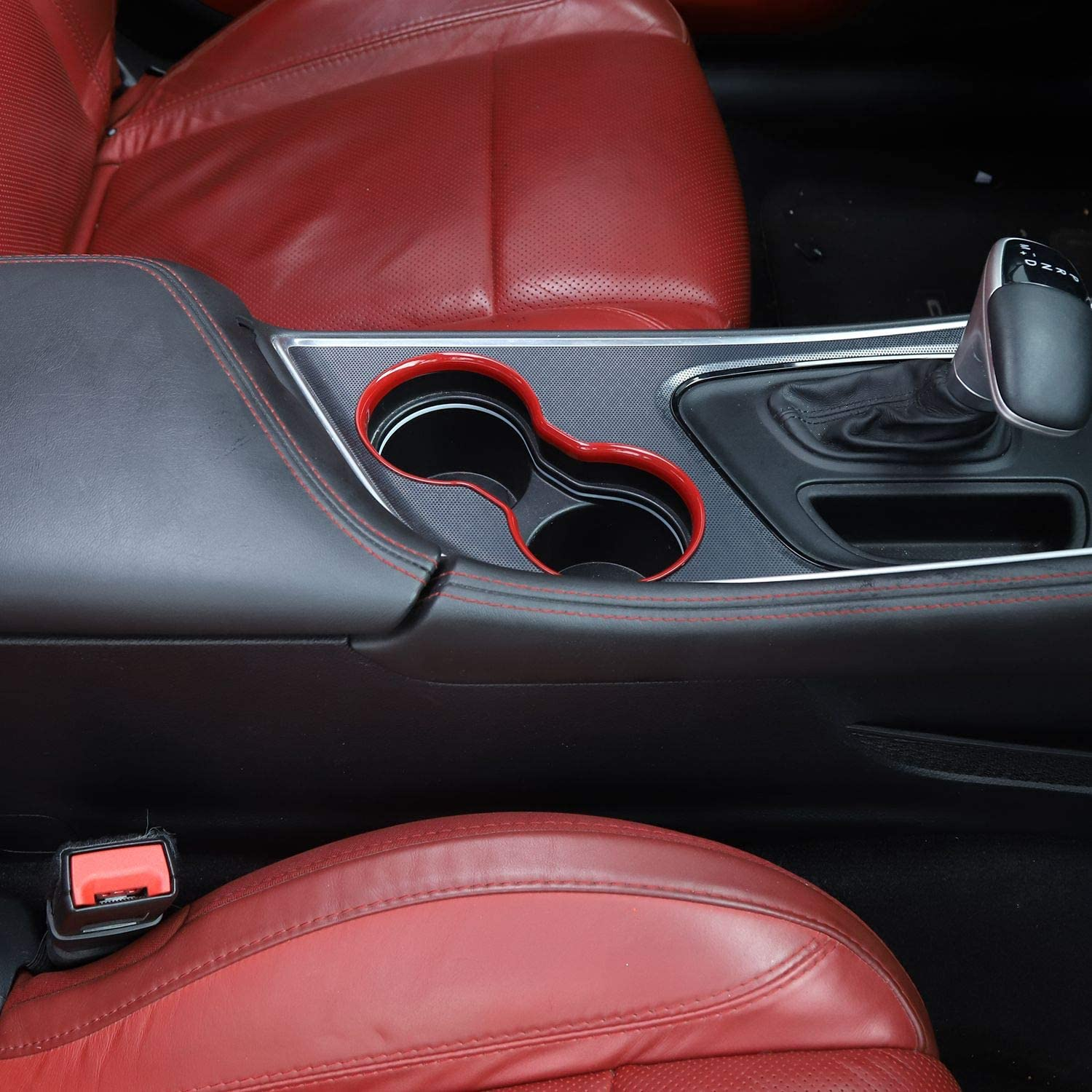 1pc Voodonala for Challenger Front Cup Holder Trim for 2015-2020 Dodge Challenger ABS Blue