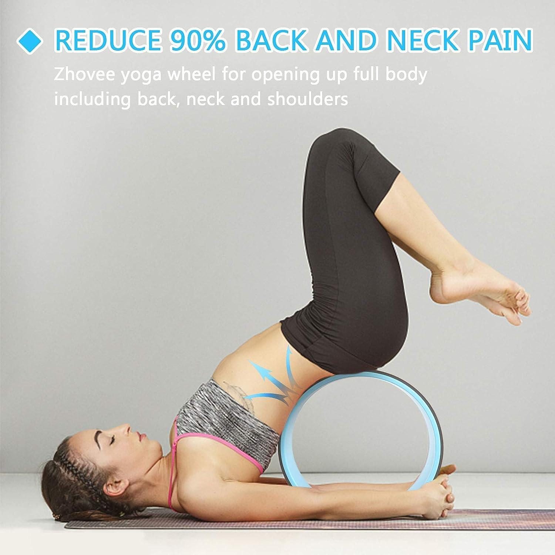 Amazon.com  Zhovee 50 Pack Yoga Wheel Back Wheel, Yoga Roller for ...