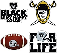 Oakland City Raider Football Logo Die-Cut Decal Sticker 5 Longer Side Set of 4 Pieces