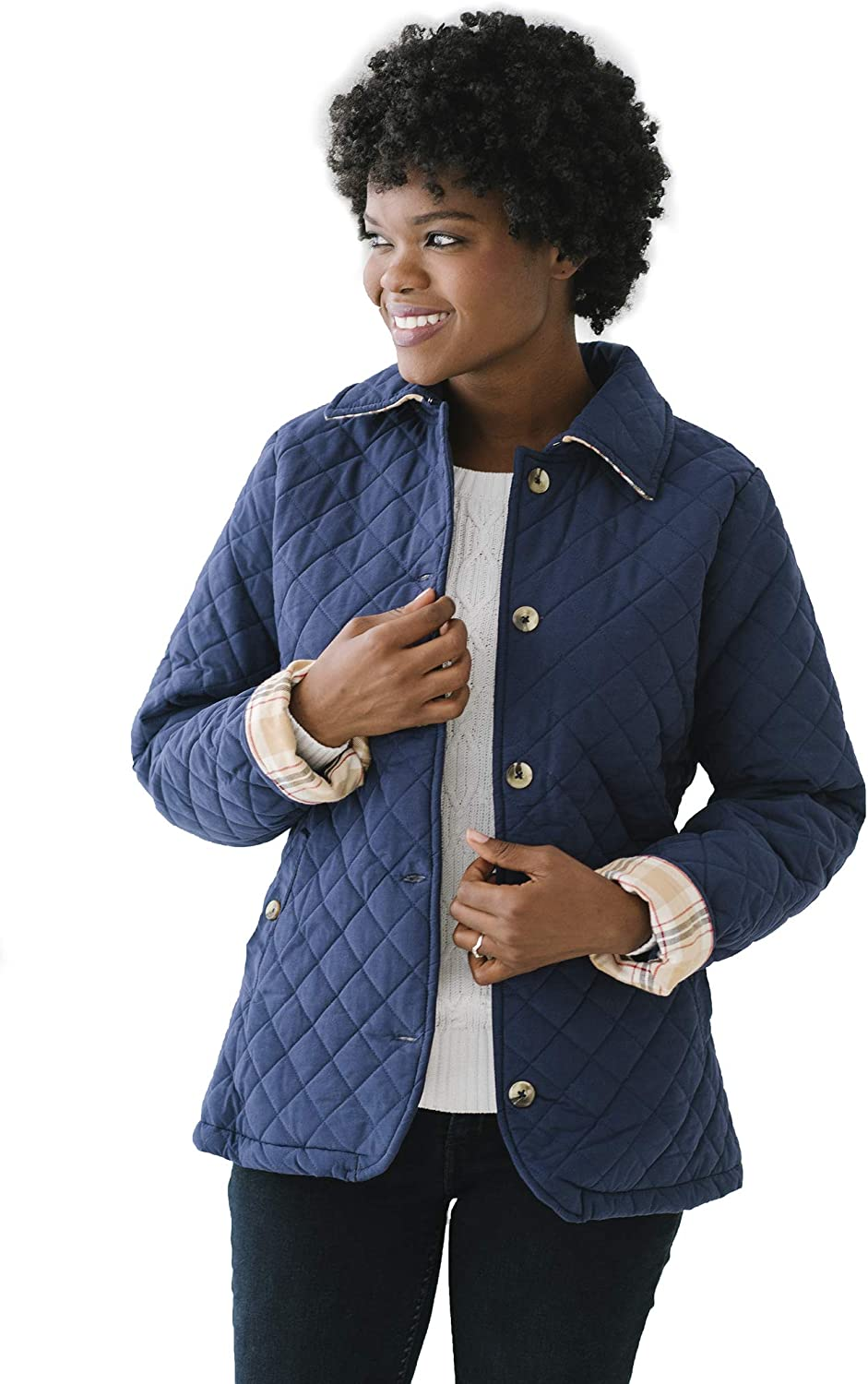 Hope & Henry Womens' Quilted Coat