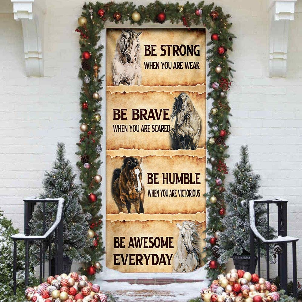 FLAGWIX low-pricing Door Covers Printed-Horse. Be Everyday Cove Awesome We OFFer at cheap prices