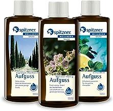 Spitzner Infusion de sauna pour le corps et l'esprit : cypresse-romarin, mélisse-miel, citron menthe (3 x 190 ml)
