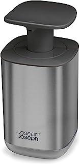 Joseph Joseph Presto Hygienic Easy-Push Soap Dispenser with Wide Pump, One-Size, Stainless Steel/Gray