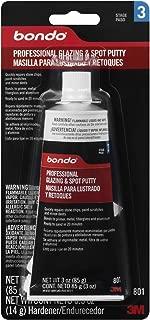 3M Bondo 801 Professional Glazing and Spot Putty, 3.0 oz.