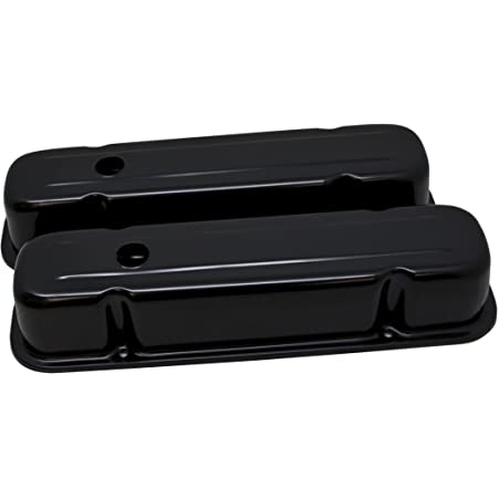 Compatible//Replacement for PONTIAC 326-455 POLISHED ALUMINUM VALVE COVERS FINNED BLACK