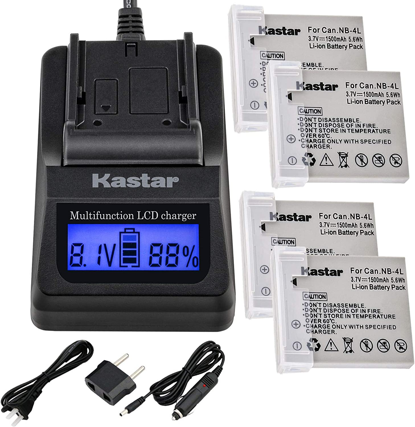 Kastar Ultra Fast Charger Minneapolis Mall 3X Faster fo 4-Pack Kit and Battery Minneapolis Mall