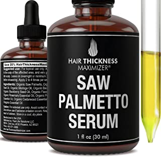 Organic Saw Palmetto Oil Serum. Stop Hair Loss Now by Hair Thickness Maximizer. Best Treatment for Hair Thinning. Hair Thi...