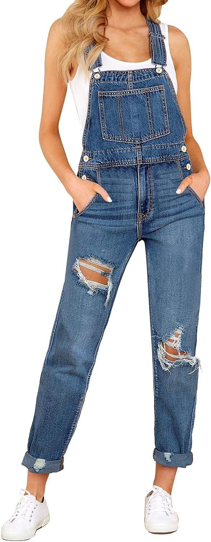 LookbookStore Women's Casual Stretch Denim cheap Low price Po Bib Pants Overalls