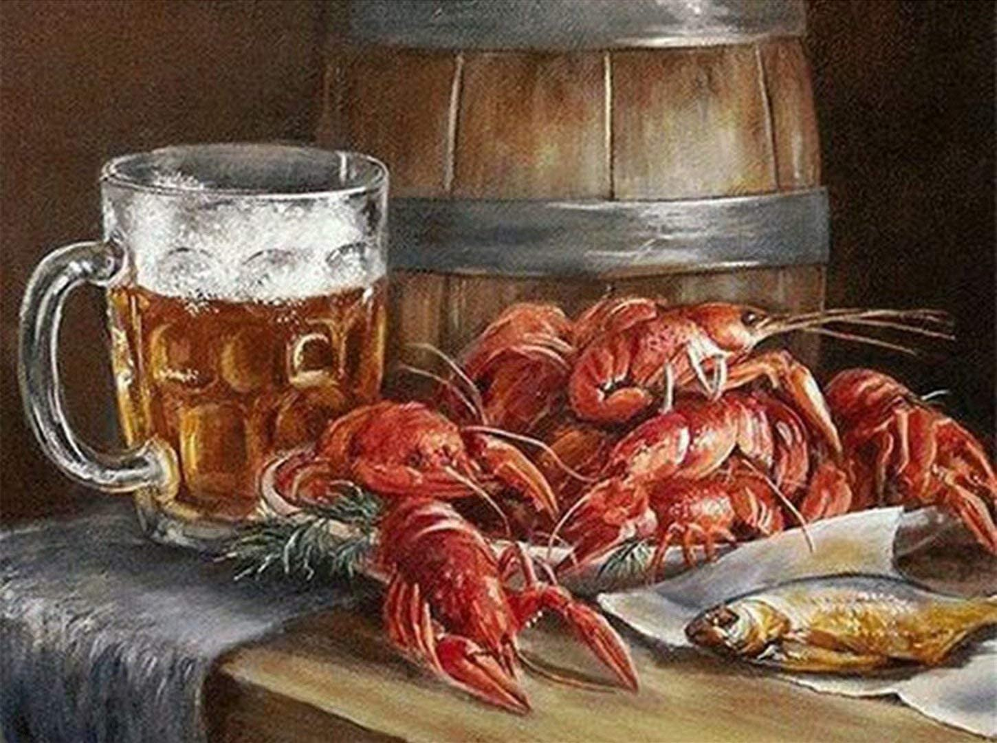 Mstoio 2000 Piece Wooden Jigsaw service Large Beer All items in the store Lobster Puzzle
