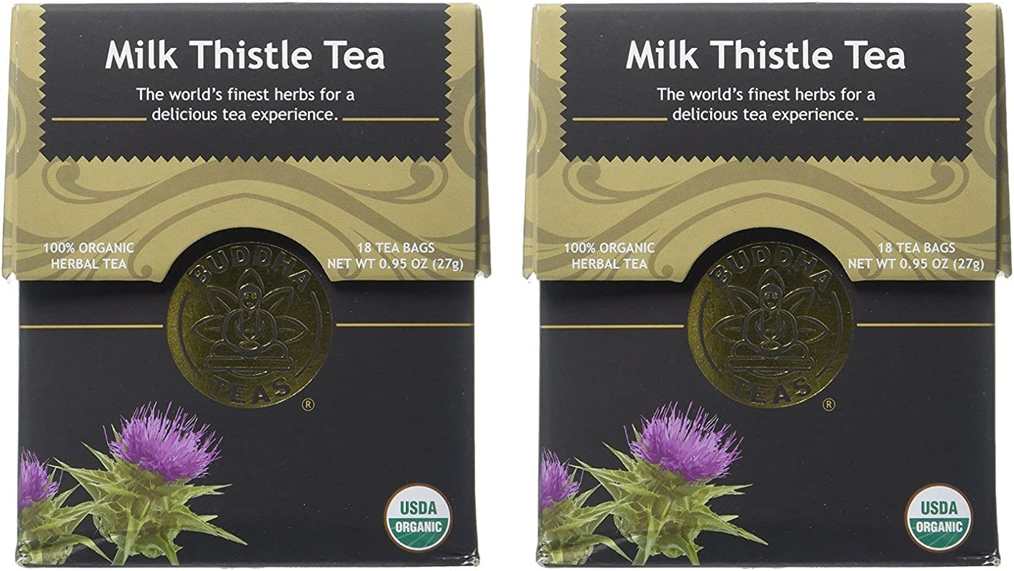 Organic Milk Thistle Tea Kosher Caffeine Free GMO Free 18 Bleach Free Tea Bags Pack Of 2