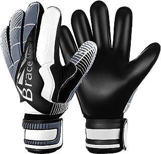 Brace Master Keepershandschoenen met Uitstekende Vinger- en Grip Bescherming, 3 + 3 mm Voetbaldoelmanhandschoen Voor Heren...